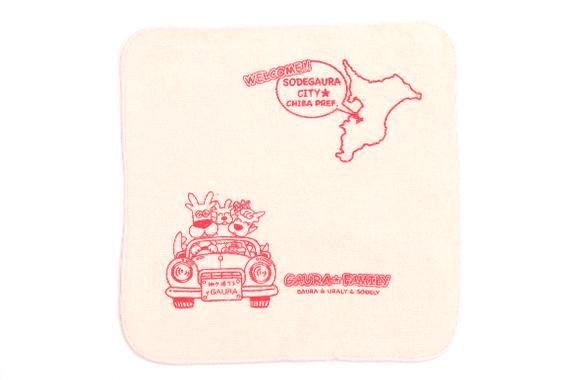 ガウラ ハンドタオル(ドライブ)赤
